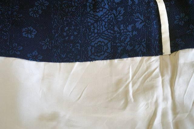 縮緬小紋の単衣の居敷当て