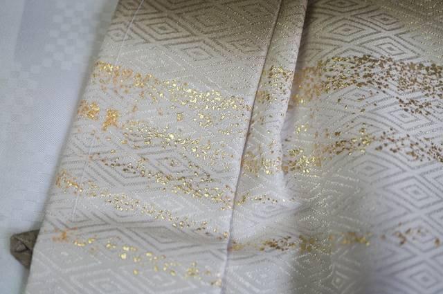 羽織の金ラメ