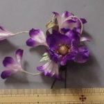 髪飾り・紫花1