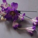 髪飾り・紫花2