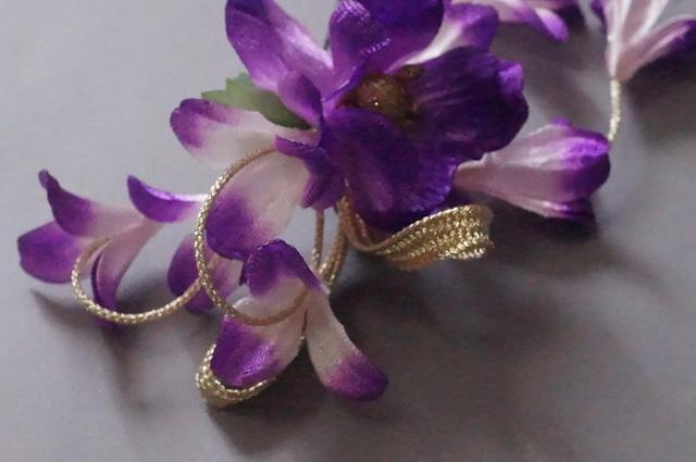 髪飾り・紫花3