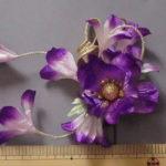 髪飾り・紫花5