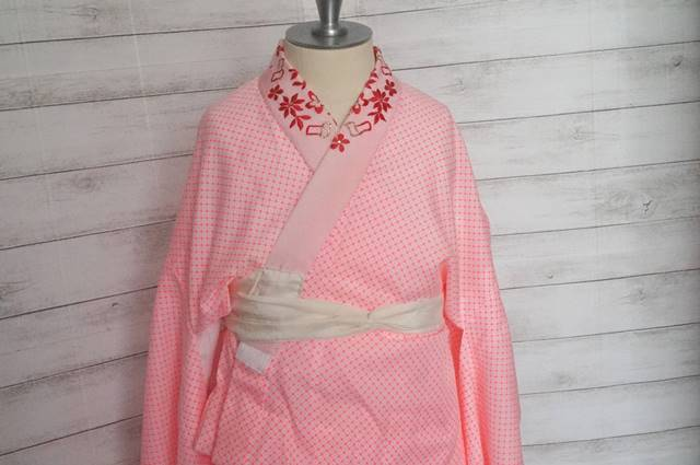 長襦袢ピンク半衿