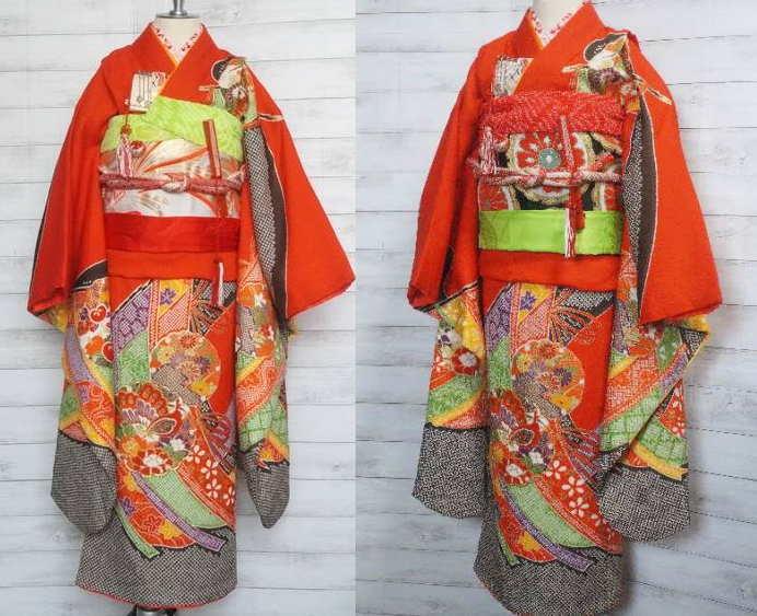 疋田絞りの着物・帯2種