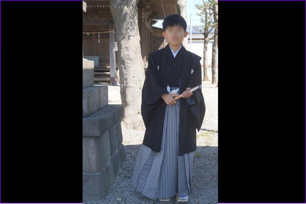 十三参り男の子紋付袴3