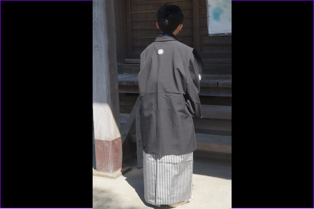 十三参り男の子紋付袴7