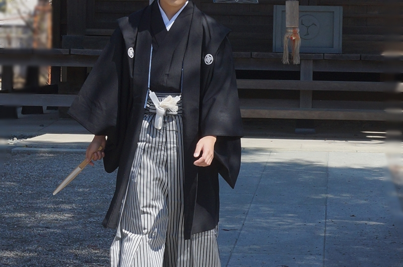 十三参り男の子紋付袴8