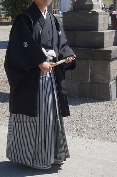 十三参り男の子紋付袴1